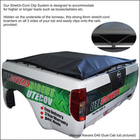 Holden Rodeo/Colorado RA, RC (2003 to June 2012) Crew Cab with Factory Alloy Sports Bars ClipOn Tonneau Cover