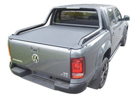 Volkswagen Amarok Ultimate Canyon (2014 Onwards) Dual Cab with Factory Long Style Sports Bars ClipOn Tonneau Cover