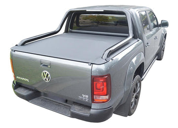Volkswagen Amarok Ultimate Canyon (2014 Onwards) Dual Cab with Factory Long Style Sports Bars ClipOn Tonneau Cover (See description for free Tonneau Cover)
