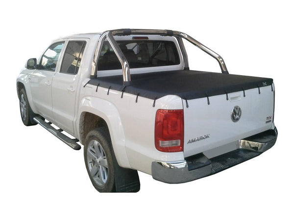 Volkswagen Amarok (2011 Onwards) Dual Cab with Factory Sports Bars Bunji Tonneau Cover
