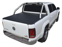 Volkswagen Amarok (2011 Onwards) Dual Cab with Factory Sports Bars ClipOn Tonneau Cover