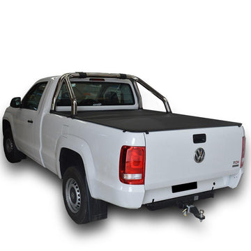 Volkswagen Amarok (2011 Onwards) Single Cab with Factory Sports Bars ClipOn Tonneau Cover