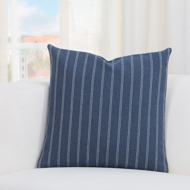 Burlap Indigo Pillow Cover - The Futon Cover Company