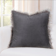 Llama Charcoal Pillow Cover - The Futon Cover Company