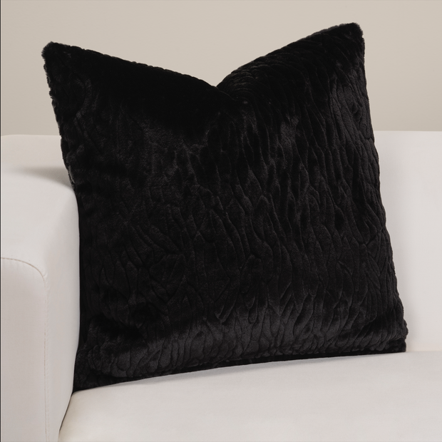 Black Panther Faux Fur Pillow Cover - The Futon Cover Company