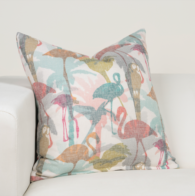 Flamingo Bay Pillow Cover - The Futon Cover Company
