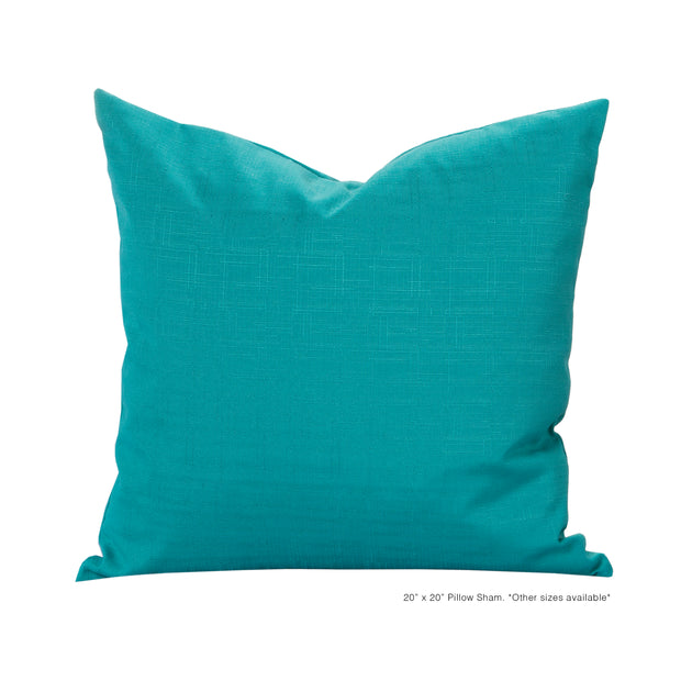 Tropical Teal Pillow Cover - The Futon Cover Company