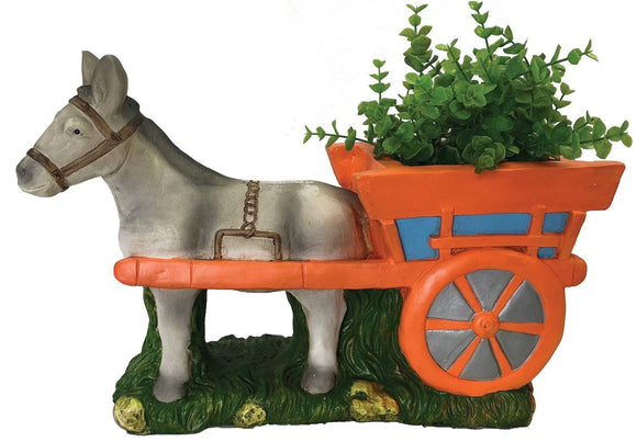 Give your outdoor space some down-on-the-farm charm with this cute Donkey with Cart Planter/Giftworks, Ennis&Galway