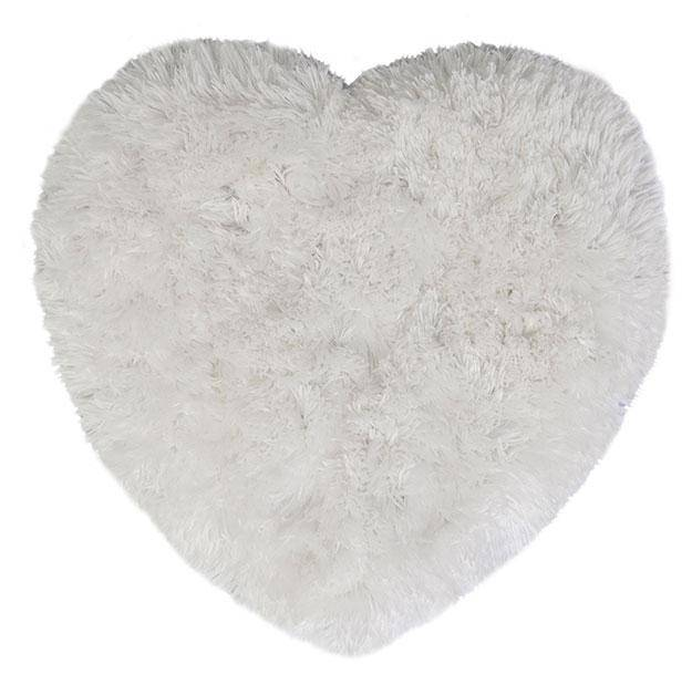 Sumptuous Fluffy White Heart - Giftworks