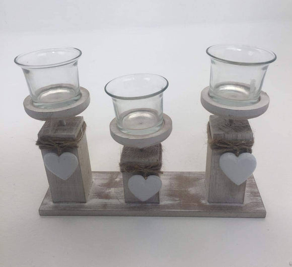 3 Tea-Light Holder With Hearts