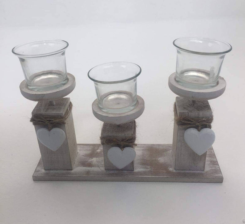 Tea-Light Holder With Hearts - Giftworks
