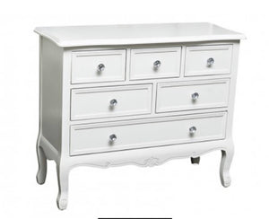 The Grange Interiors Aoife 6-Drawer Chest - 90x36x74cm