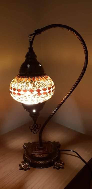 Bring a flair of traditional mosaic Turkish lighting into your home. Handcrafted by expert craftsmanship to create a unique lamp with multi-colours and geometric designs/Giftworks, Ennis&Galway