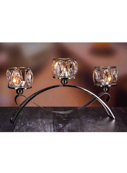 The Grange Collection Crystal 3-Tealight Holder on Stand Let your living area have a touch of elegance with The Grange Collection Crystal 5-Tealight Holder/Giftworks, Ennis&Galway