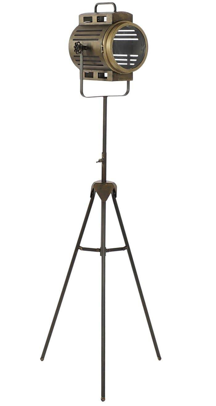 Floor lamp, vintage style. Beautiful vintage spotlight style floor lamp that will not go unnoticed in any corner of your home, a piece with flavor and personality/Giftworks, Ennis&Galway