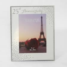 25th Anniversary Celebrations Sparkle Collage Photo Frame
