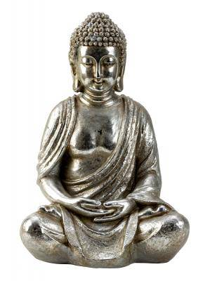 Buddha sitting silver Bring home this figurine of the Kneeling Buddha head and spread a vibe of serenity in your room/Giftworks, Ennis&Galway
