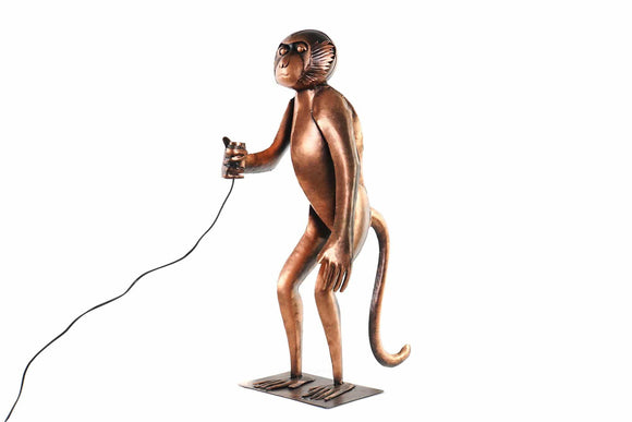Monkey Floor Lamp quirky and eclectic Lamp that both brightens and creates a statement in your home/Giftworks, Ennis&Galway
