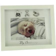 "My Christening' photo frame from Bambino measuring 6"" x 4""."