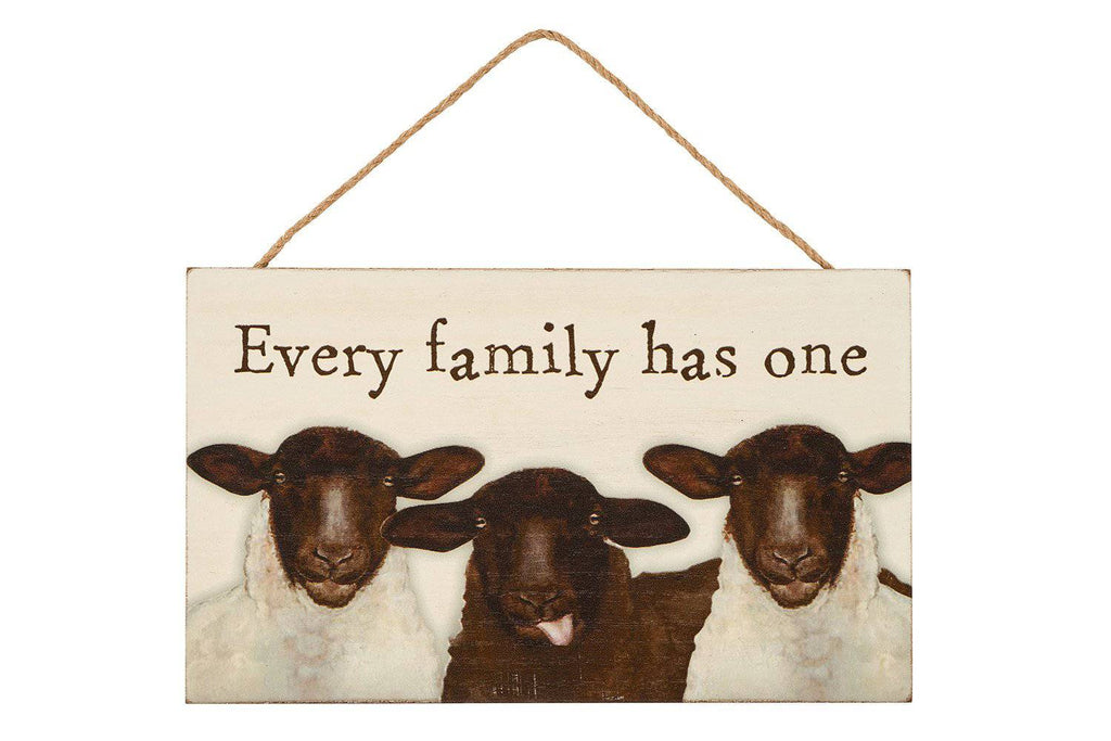 Black Sheep Plaque. This fun tongue in cheek quote makes a great fun gift/Giftworks, Ennis&Galway