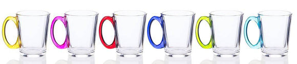 Add a beautiful range of colour to your Dining with these Rainbow Glass Mugs from Newgrange Living/GiftworksStores, Ennis&Galway