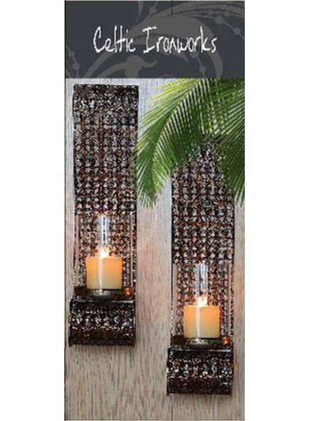 Celtic Ironworks Set of 2 Wall Sconces Bronze