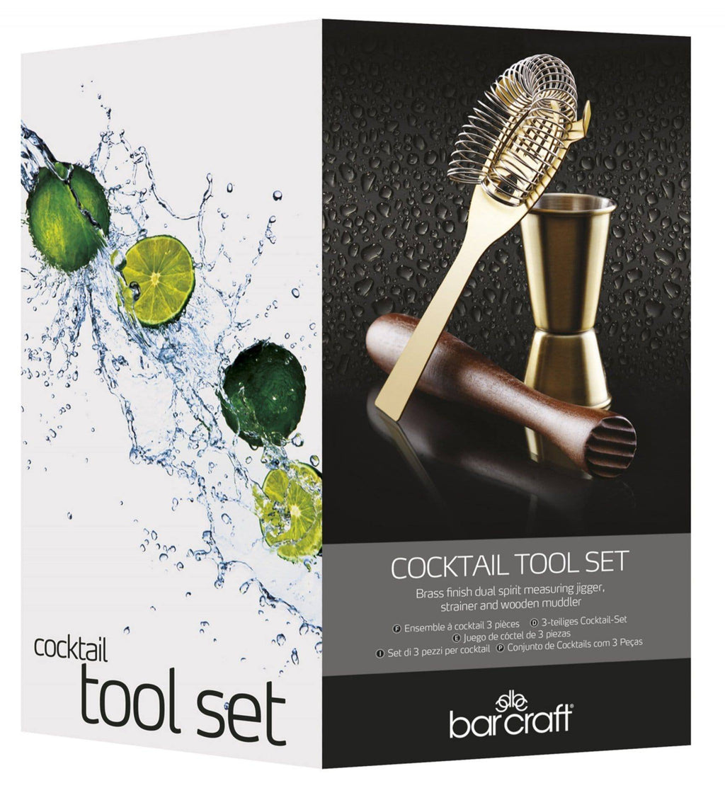 This cocktail tool set contains everything you need to create the perfect cocktails right from the comfort of your own home, essential for serving a range of exquisite cocktails/Giftworks, Ennis&Galway