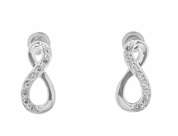 Infinity Rhodium Silver Earrings (IEAR0599)