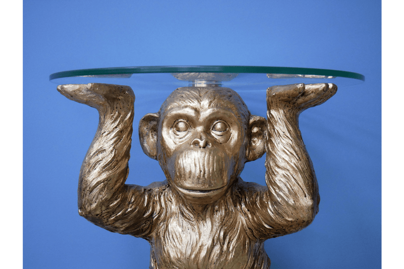 Monkey Side Table Gold - Giftworks