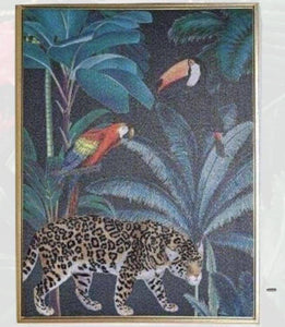 Tropical Leopards Gold Framed Print Tropical decor is one of the most popular choices for contemporary homes/Giftworks, Ennis&Galway