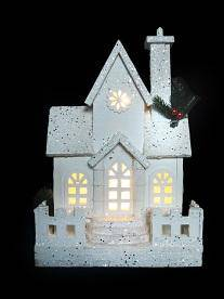 LED White Wooden Christmas House Add a touch of twinkle to your home decor this Christmas with this cute LED White Wooden House/Giftworks, Ennis&Galway