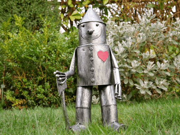 One look at this Tin Man Garden Statue and fans of