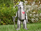 "One look at this Tin Man Garden Statue and fans of ""The Wizard of Oz"" will be in love. He is a tall, fabulous and very unusual/Giftworks, Ennis&Galway"