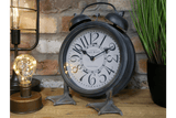 Fantastic and quirky Clock. This mantel clock with feet is a quirky piece to add character to your home. What a fun gift for a friend or why not for yourself. Sure to be a hit/Giftworks, Ennis&Galway
