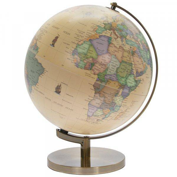 Gold Vintage Map Of The World For Kids Globe - Giftworks