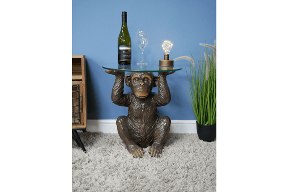 This sculptural monkey side table shows who you are when it comes to uniqueness/Giftworks, Ennis&Galway