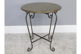 Brass Metal Table, Sleek and compact Brass colour Metal Side table/Giftworks, Ennis&Galway