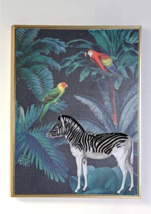 Tropical Zebra Canvas Tropical decor is one of the most popular choices for contemporary homes/Giftworks, Ennis&Galway