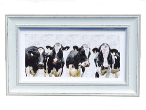 Handmade Irish, Chic and stylish the adorable picture depicts four soulful and attractive cows drawing from the beautiful natural landscapes of Ireland/Giftworks, Ennis&Galway