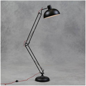 Perfect to brighten up any modern designed home with this stunning extra large Matt Black desk style floor lamp (red fabric flex)/Giftworks, Ennis&Galway