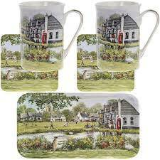 Who's For Tea? Traditional country Pub Style design. Ideal to enjoy tea & biscuits any time of the day! Awesome gifts for lovers of tea or coffee.