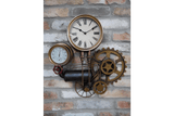 The practical and decorative industrial style pipework clock. Made from metal a Pipe Clock unique and a creative piece of industrial home decor oozing vintage charm!/Giftworks, Ennis&Galway
