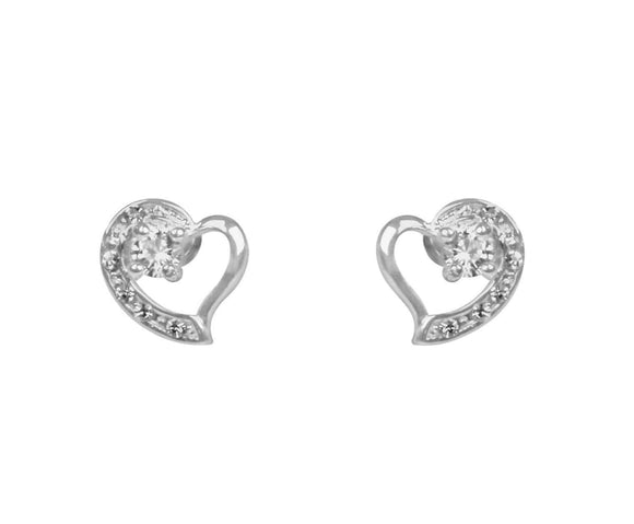 Indulgence Earrings Add a touch of sparkle and elegance to your outfit with these classic heart earrings. Comes Gift Boxed with a Giftworks Gift bag/Giftworks, Ennis&Galway