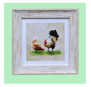 Handmade Irish, Chic and stylish the adorable picture depicts a variety of soulful Chickens drawing from the beautiful natural landscapes of Ireland/Giftworks, Ennis&Galway