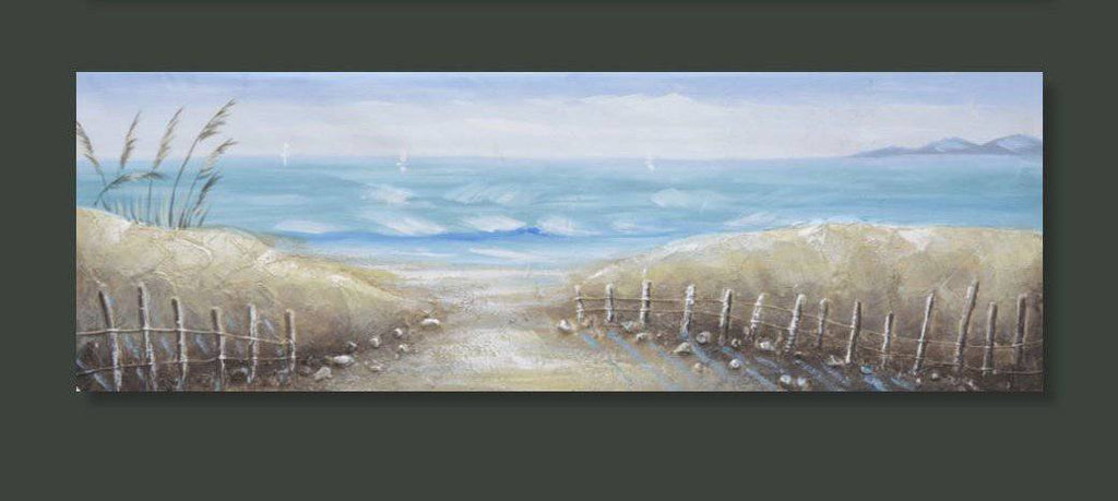 Beach Canvas Imagine walking into your home and being in complete awe of this gorgeous, 3D vibrant print canvas of the ocean/Giftworks, Ennis&Galway