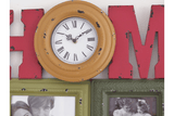 The distressed Multicolour colored Clock Picture/GiftworksStores, Ennis&Galway