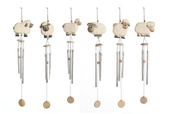 Sheep Chime Enjoy the relaxing sounds of this adorable Sheep Chime as gentle breezes flow by your home or garden/Giftworks, Ennis&Galway