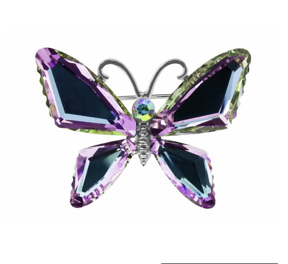 Butterfly Brooch will Glam up any outfit with this pretty butterfly brooch by Indulgence Jewellery. Sparkling with several different colours/Giftworks, Ennis&Galway
