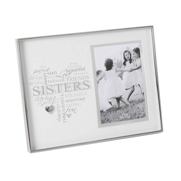 A gorgeous nickel plated 'Sisters' frame with 4