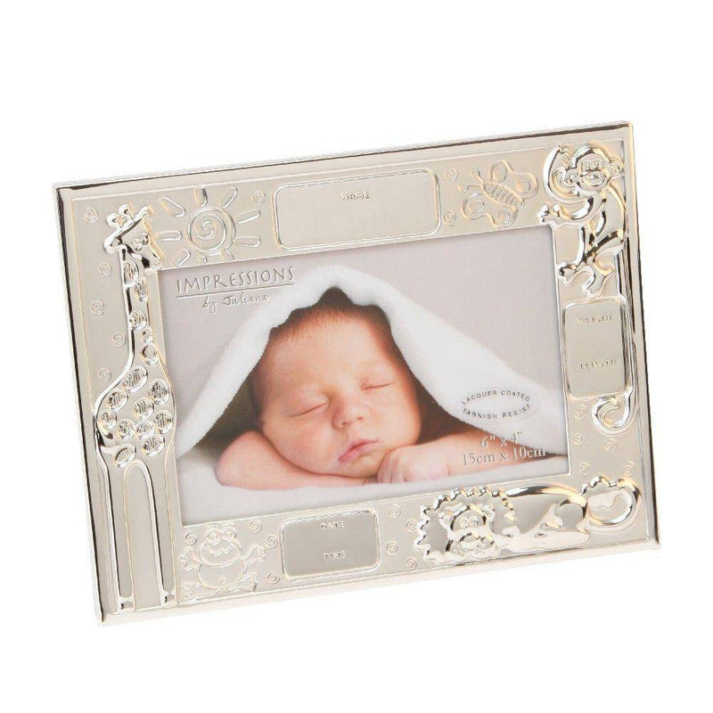 "6"" X 4"" - Noah's Ark Personalised Data newborn baby Frame - Giftworks"